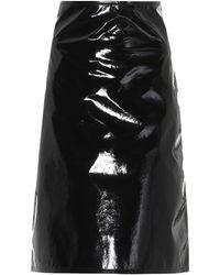 Helmut Lang Faux Leather Skirt - Black
