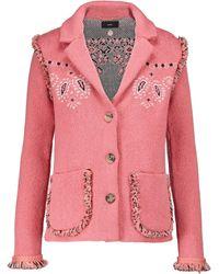 Alanui Caravan Mood Cotton And Wool Jacket - Pink