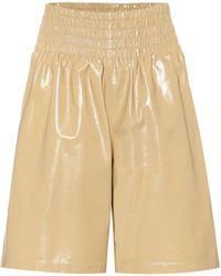 Bottega Veneta Leather Shorts - Yellow