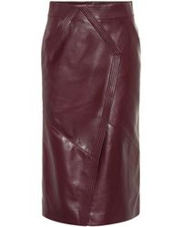 Givenchy - Leather Pencil Skirt - Lyst
