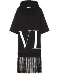 Valentino Vltn Sweatshirt-dress - Black