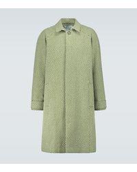 King & Tuckfield Mantel aus Wolle mit Fischgrätmuster - Grün