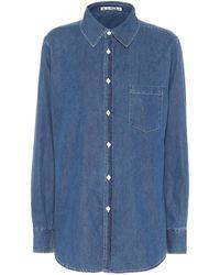 Acne Studios Jeanshemd aus Baumwolle - Blau