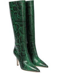 Paris Texas Botas altas de piel efecto serpiente - Verde