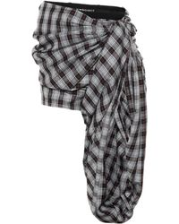 Y. Project Plaid Shorts - Gray