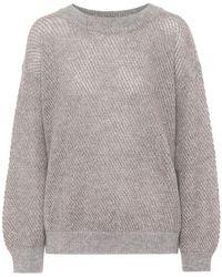 Brunello Cucinelli Pullover in mohair, lana e cashmere - Grigio