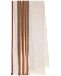 Loro Piana Sciarpa The Suitcase Stripe in cashmere e seta - Multicolore