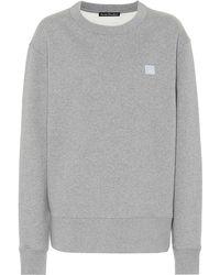 Acne Studios Fairview Face Cotton Sweatshirt - Gray