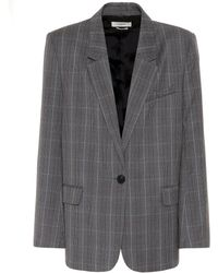 Étoile Isabel Marant Verix Checked Wool Blazer - Gray