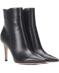 Gianvito Rossi - Ankle Boots Levy 85 aus Leder - Lyst