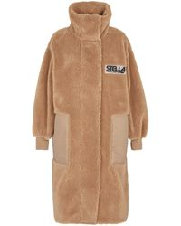 Stella McCartney Luna Teddy Coat - Natural