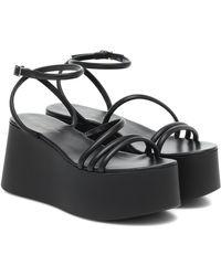 Gianvito Rossi Bekah 20 Leather Platform Sandals - Black