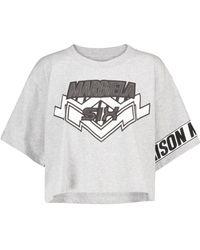 MM6 by Maison Martin Margiela Logo Cotton-jersey T-shirt - Grey