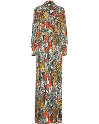 Gucci Garden Print Maxi Dress - Orange