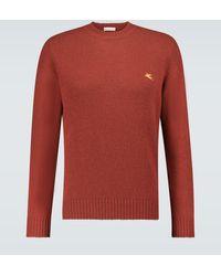 Etro Bestickter Pullover aus Wolle - Rot