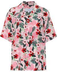 Les Rêveries - Floral Silk Shirt - Lyst