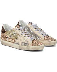 Golden Goose Sneakers Superstar aus Leder - Mettallic