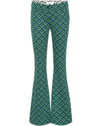 Diane von Furstenberg - Jacquard Knit Flare-leg Trousers - Lyst