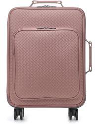 Bottega Veneta Intrecciato Leather Suitcase - Pink