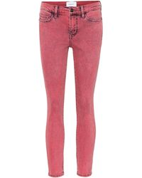 Current/Elliott The Stiletto Mid-rise Skinny Jeans - Pink