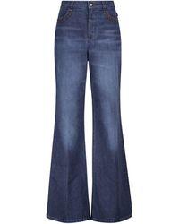 Chloé Jeans flared de tiro alto - Azul
