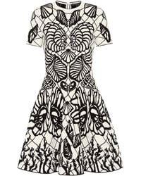 Alexander McQueen - Jacquard Knit Minidress - Lyst