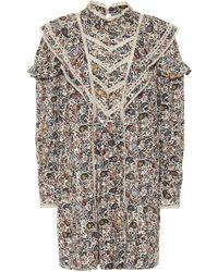 Étoile Isabel Marant Robe Rebel en coton à motif cachemire - Multicolore