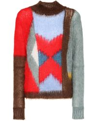 Chloé - Mohair And Wool-blend Sweater - Lyst