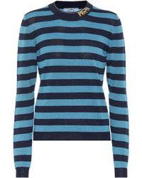 Prada Pullover aus einem Wollgemisch - Blau