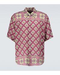 Etro Printed Linen Shirt - Pink