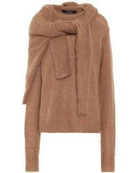 ROKH Pullover in lana e mohair - Marrone