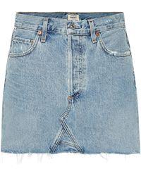 Citizens of Humanity Minifalda Astrid de jeans - Azul