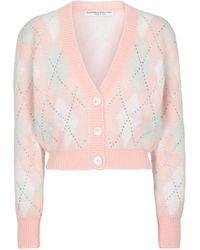 Alessandra Rich Cardigan aus einem Mohairgemisch - Pink