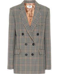 Victoria, Victoria Beckham Checked Wool-blend Jacket - Multicolour