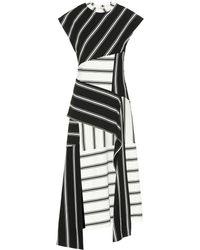 Monse Patchwork-effect Striped Stretch-jersey Dress - Black
