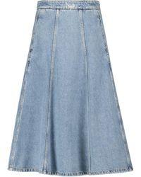 Philosophy Di Lorenzo Serafini Denim Midi Skirt - Blue
