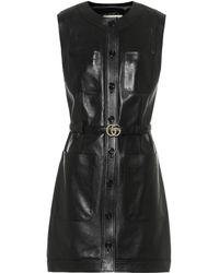 Gucci Leather Minidress - Black
