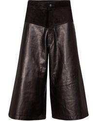 J Brand Evie Leather Culottes - Black