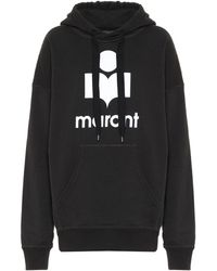 Étoile Isabel Marant Sweat-shirt Mansel à capuche en coton mélangé - Noir