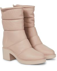 Gianvito Rossi Ankle Boots aus Leder - Pink