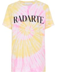 Rodarte T-shirt Radarte en coton mélangé tie & dye - Orange