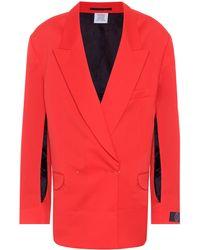 Vetements Wool-twill Blazer - Red
