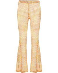 Missoni Flared-Hose aus Häkelstrick - Mehrfarbig