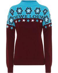 Loewe Pullover aus Wolle - Mehrfarbig