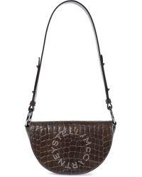 Stella McCartney - Stella Logo Small Faux Leather Shoulder Bag - Lyst