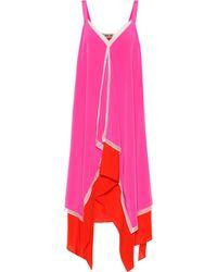 Diane von Furstenberg Wren Silk Crepe De Chine Midi Dress - Pink