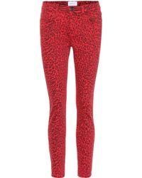 Current/Elliott Mid-Rise Skinny Jeans The Stiletto - Rot