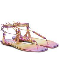 Aquazzura Sandalen Sole aus Leder - Pink