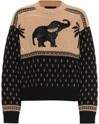 Alanui Oversized Knit Sweater - Black