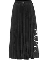 Valentino Vltn Jersey Skirt - Black